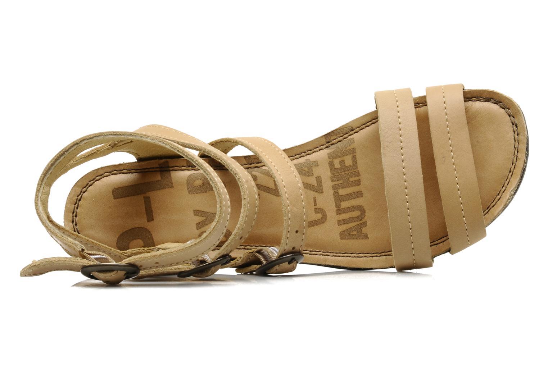 Sandalen P-L-D-M By Palladium Flavy lip beige ansicht von links