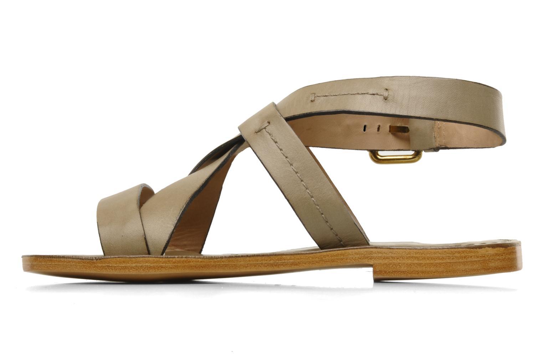 Sandales et nu-pieds Pour La Victoire Mariza Gris vue face