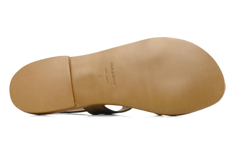 Sandales et nu-pieds Pour La Victoire Mariza Gris vue haut