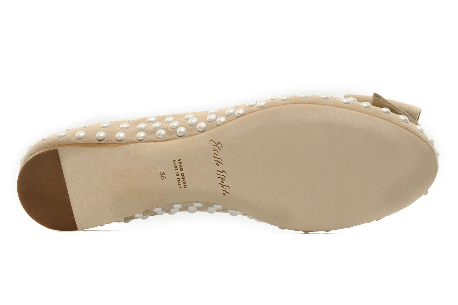 Ballet pumps Ernesto Esposito Evie Beige view from above