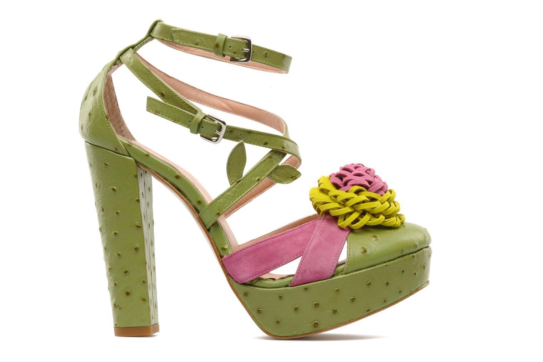 Sandales et nu-pieds Minna Parikka POMPOM SANDAL Vert vue derrière