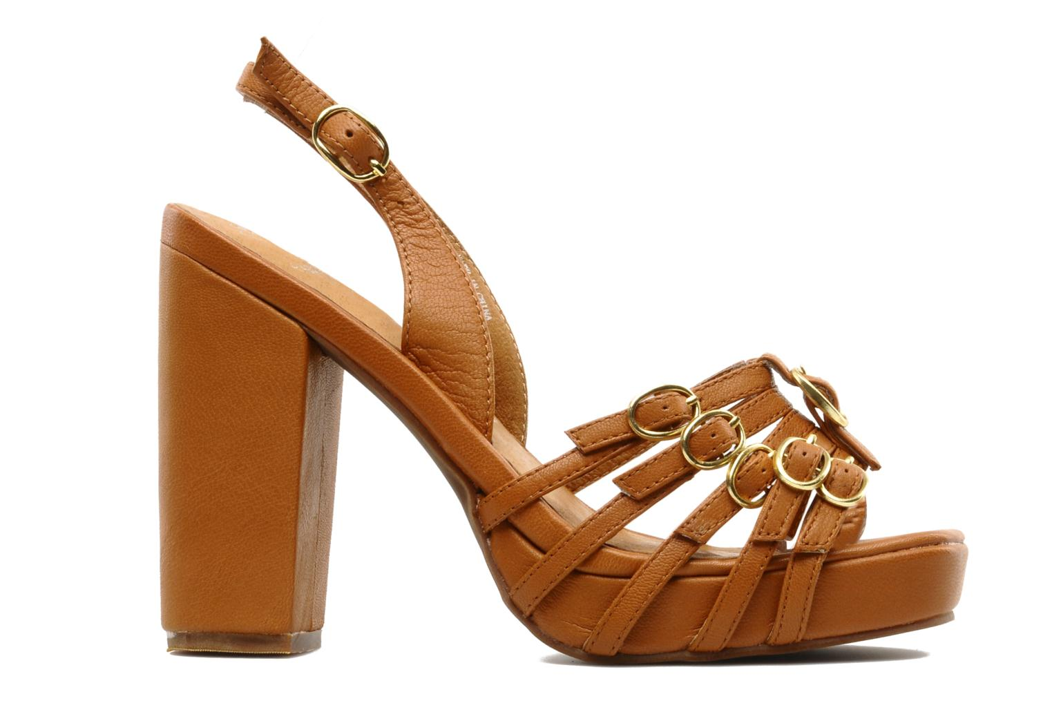 Sandals Jeffrey Campbell Fun Brown back view