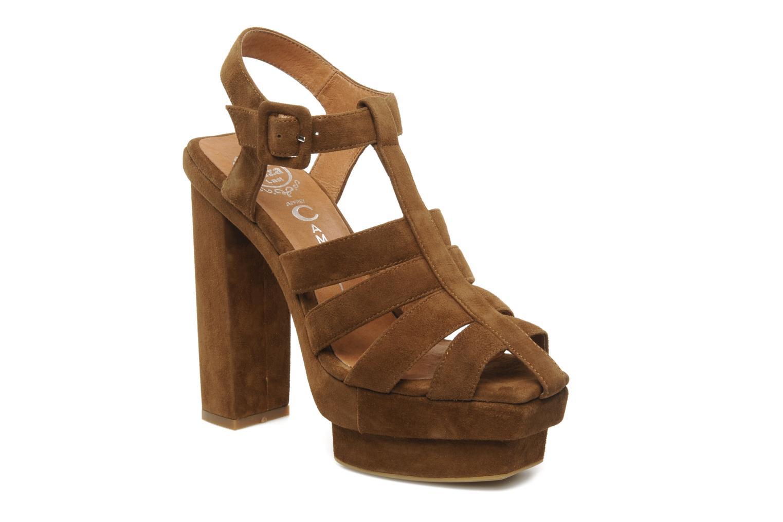 Sandales et nu-pieds Jeffrey Campbell Eva B Marron vue détail/paire