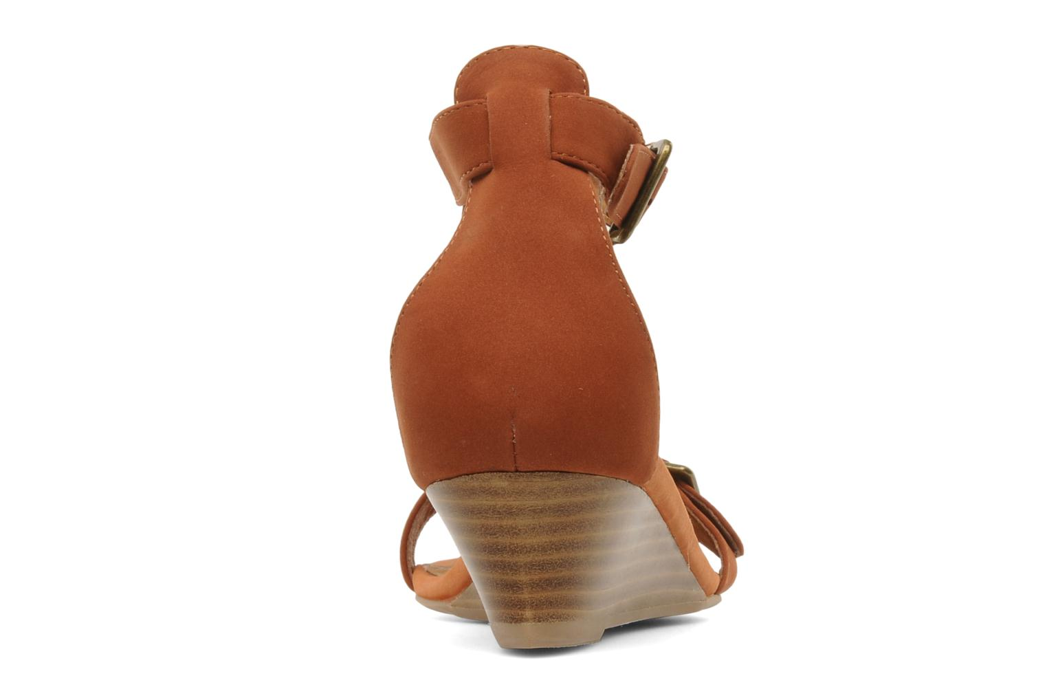 Sandals Jeffrey Campbell Barbary Spike Brown view from the right