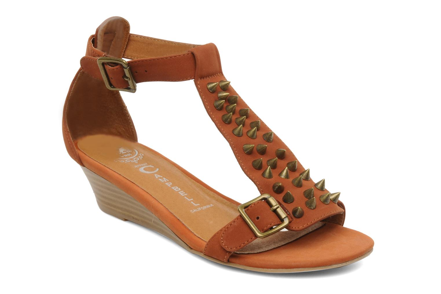 Sandals Jeffrey Campbell Barbary Spike Brown detailed view/ Pair view