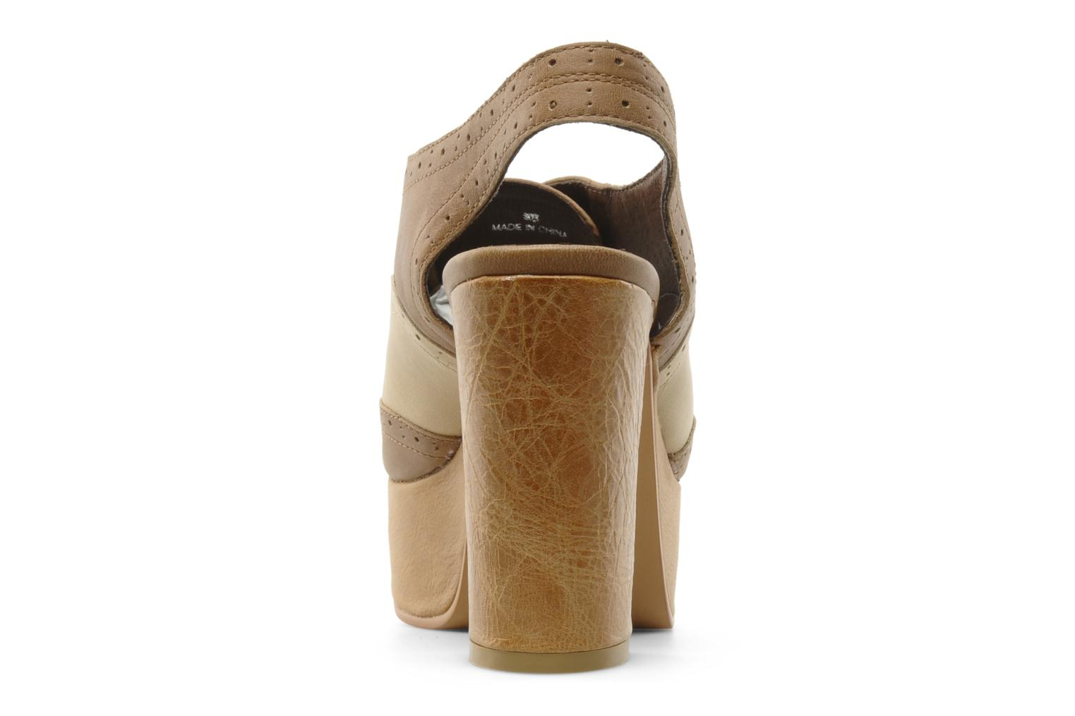 Lace-up shoes Jeffrey Campbell Ditto Beige view from the right