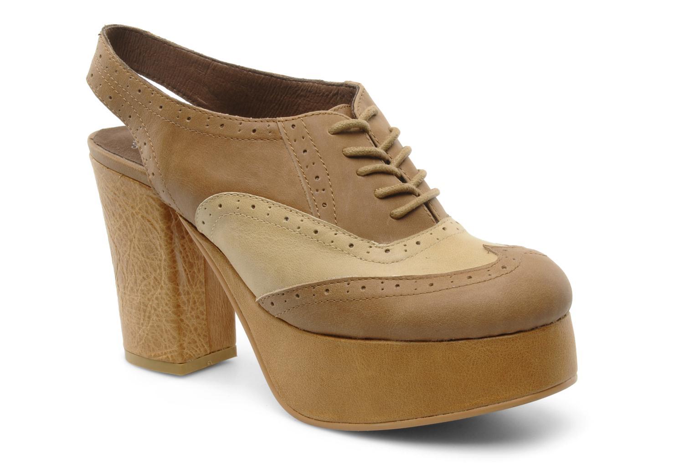 Chaussures à lacets Jeffrey Campbell Ditto Beige vue détail/paire
