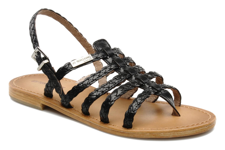 Sandales et nu-pieds Les Tropéziennes par M Belarbi Heritres Noir vue détail/paire