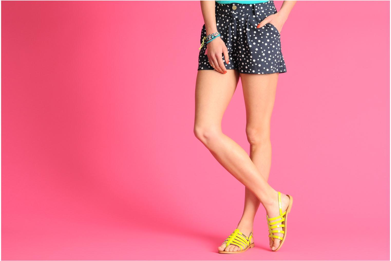 Sandalen Les Tropéziennes par M Belarbi Herflash gelb ansicht von unten / tasche getragen