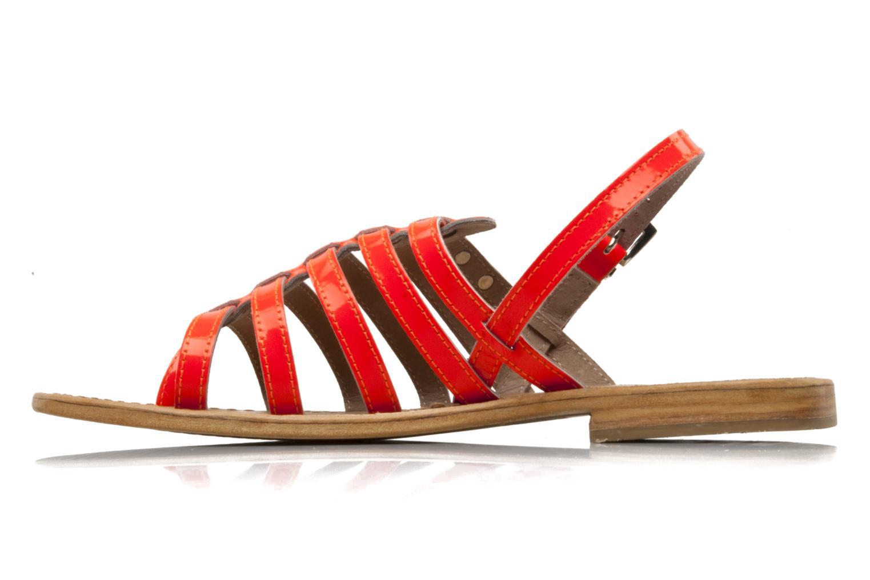 Sandales et nu-pieds Les Tropéziennes par M Belarbi Herflash Orange vue face