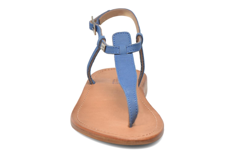Sandalen Les Tropéziennes par M Belarbi Narbuck blau schuhe getragen