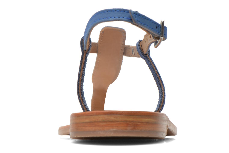 Sandalen Les Tropéziennes par M Belarbi Narbuck blau ansicht von rechts
