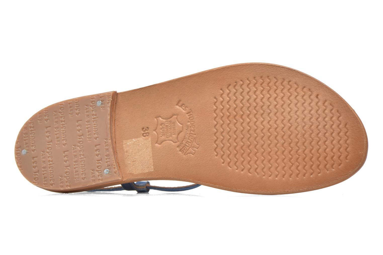 Sandales et nu-pieds Les Tropéziennes par M Belarbi Narbuck Bleu vue haut