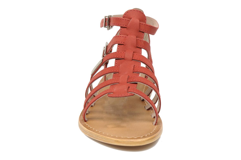 Sandales et nu-pieds Les Tropéziennes par M Belarbi Hortense Rouge vue portées chaussures