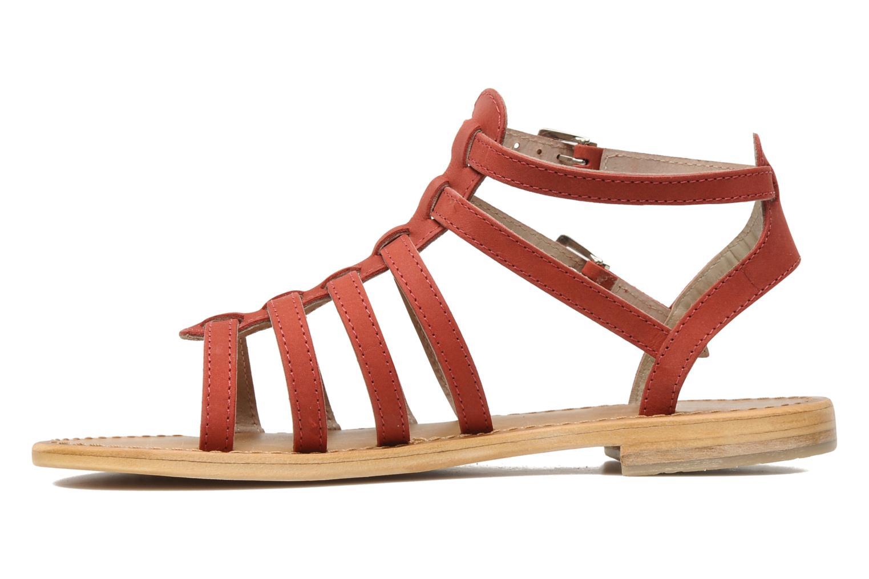 Sandales et nu-pieds Les Tropéziennes par M Belarbi Hortense Rouge vue face