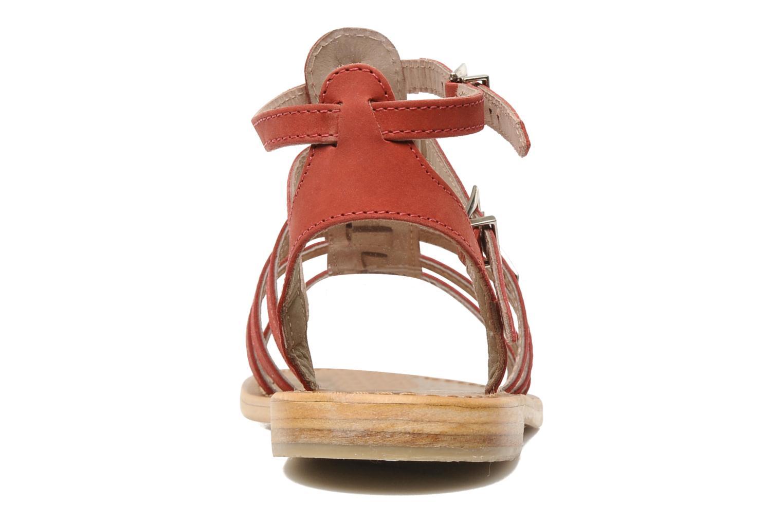 Sandales et nu-pieds Les Tropéziennes par M Belarbi Hortense Rouge vue droite
