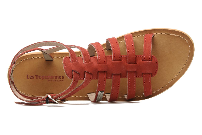 Sandales et nu-pieds Les Tropéziennes par M Belarbi Hortense Rouge vue gauche