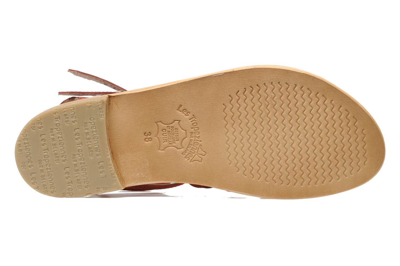 Sandales et nu-pieds Les Tropéziennes par M Belarbi Hortense Rouge vue haut