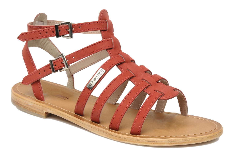 Sandales et nu-pieds Les Tropéziennes par M Belarbi Hortense Rouge vue détail/paire