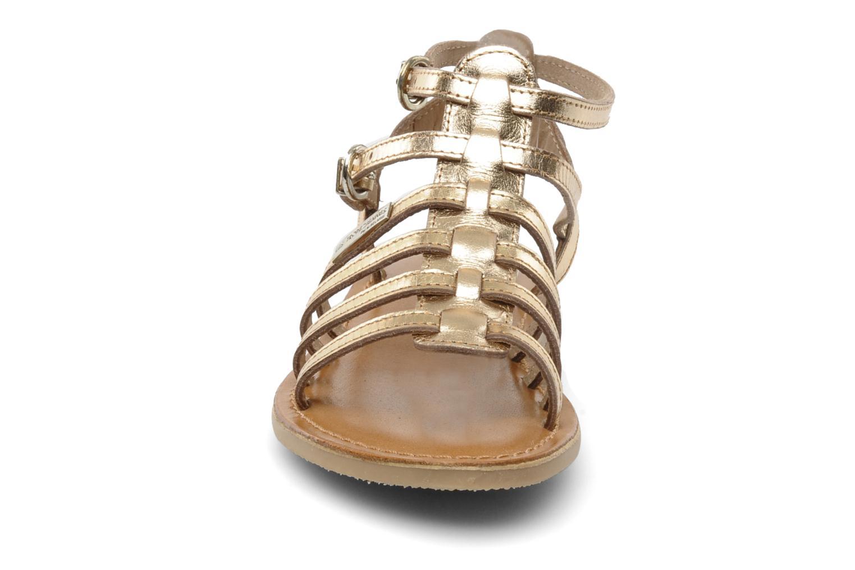 Sandales et nu-pieds Les Tropéziennes par M Belarbi Hic E Or et bronze vue portées chaussures