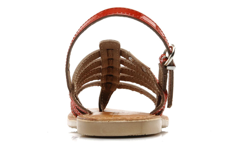 Sandales et nu-pieds Les Tropéziennes par M Belarbi Herisson E Rouge vue droite