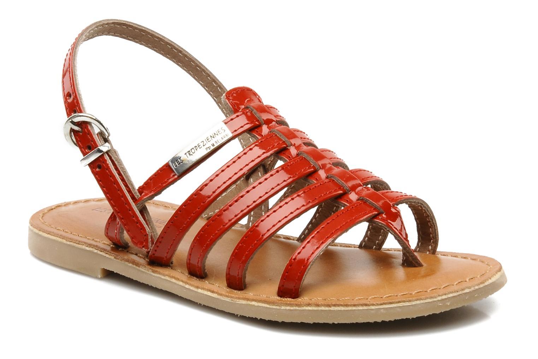 Sandales et nu-pieds Les Tropéziennes par M Belarbi Herisson E Rouge vue détail/paire