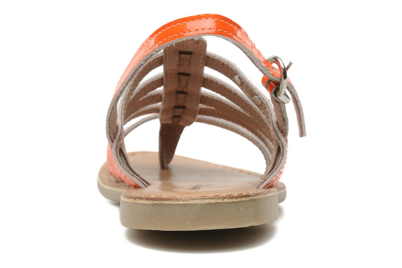 Sandalias Les Tropéziennes par M Belarbi Herflash E Naranja vista lateral derecha