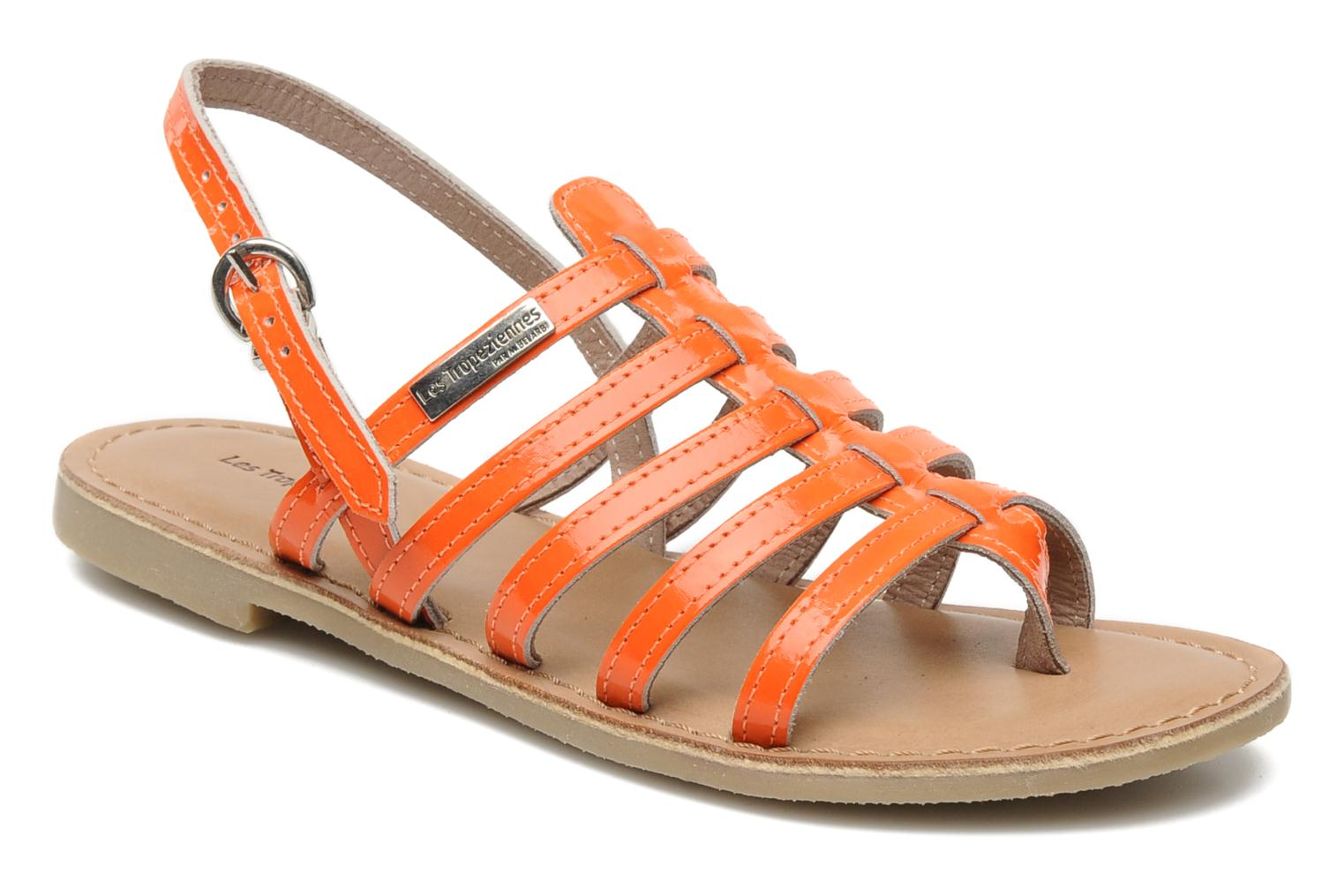 Sandals Les Tropéziennes par M Belarbi Herflash E Orange detailed view/ Pair view
