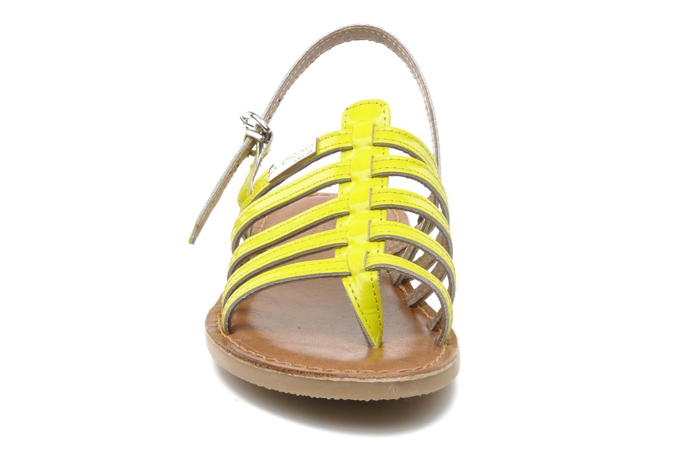 Sandales et nu-pieds Les Tropéziennes par M Belarbi Herflash E Jaune vue portées chaussures