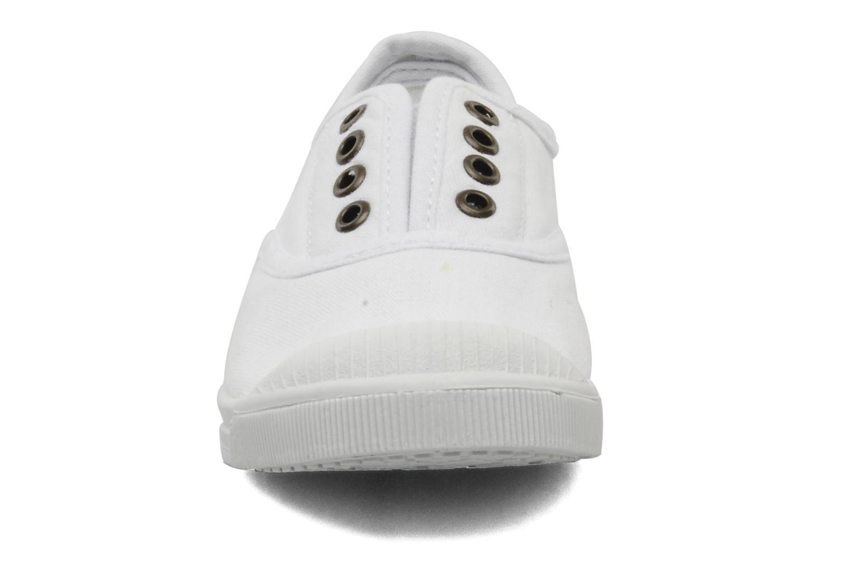 Baskets Les Tropéziennes par M Belarbi Fete E Blanc vue portées chaussures