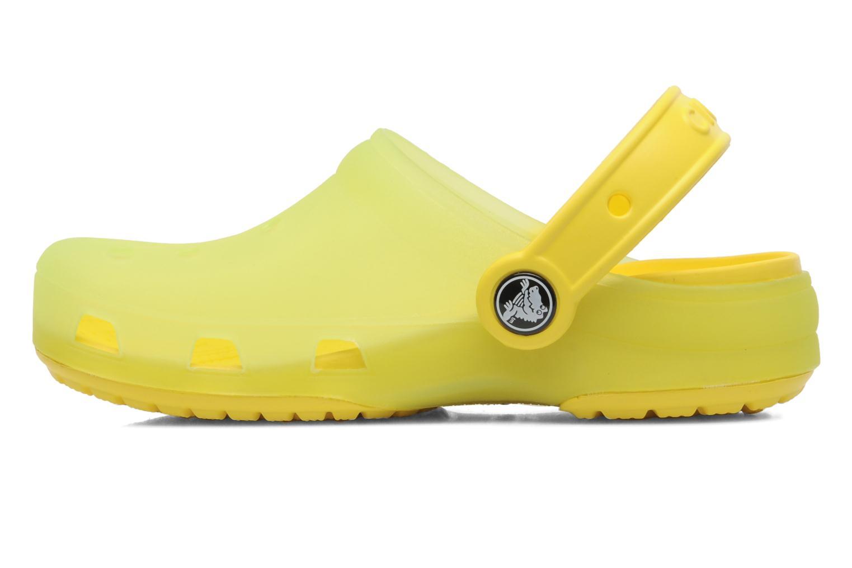Sandales et nu-pieds Crocs Crocs Chameleons Translucent Clog Kids Jaune vue face