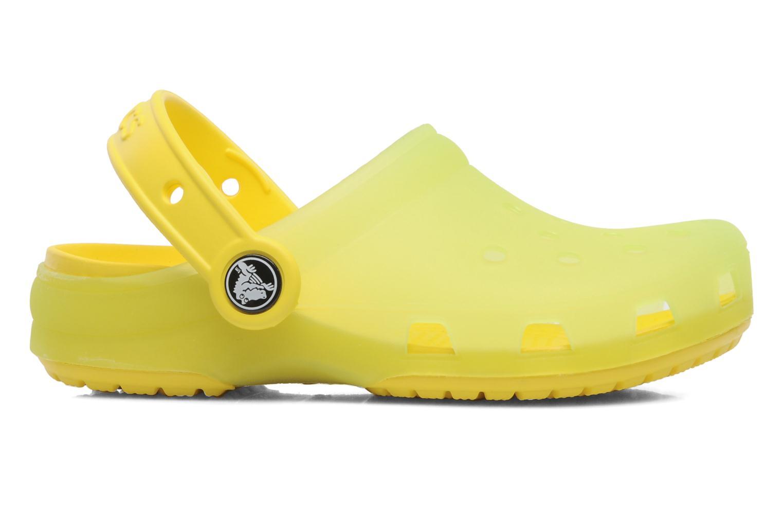 Sandales et nu-pieds Crocs Crocs Chameleons Translucent Clog Kids Jaune vue derrière