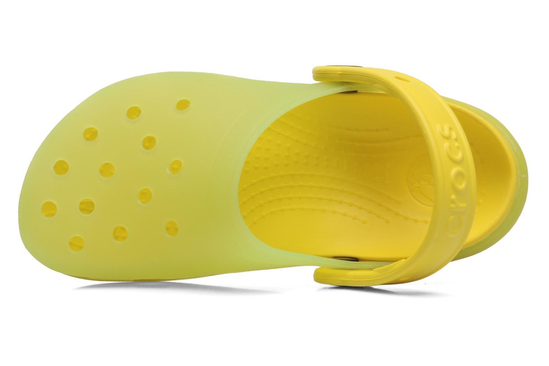 Sandales et nu-pieds Crocs Crocs Chameleons Translucent Clog Kids Jaune vue gauche