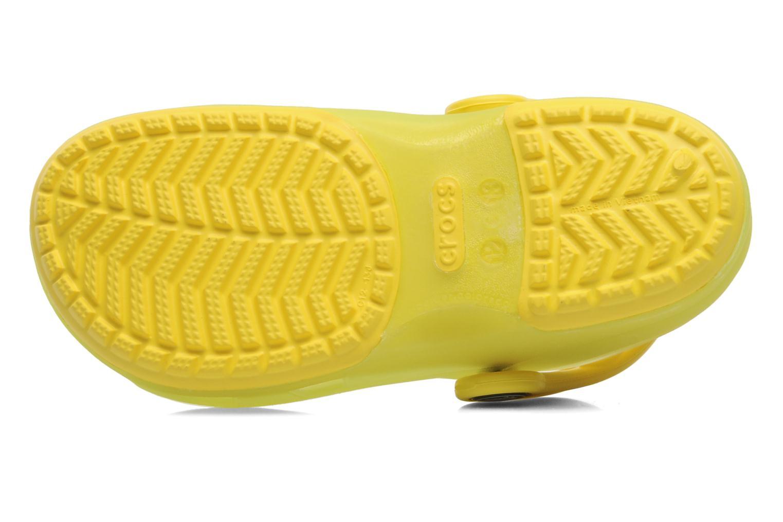 Sandales et nu-pieds Crocs Crocs Chameleons Translucent Clog Kids Jaune vue haut