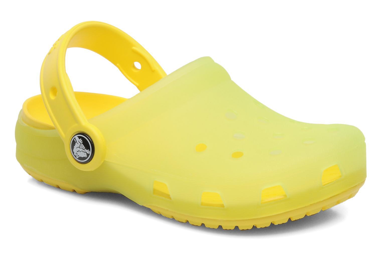 Sandales et nu-pieds Crocs Crocs Chameleons Translucent Clog Kids Jaune vue détail/paire
