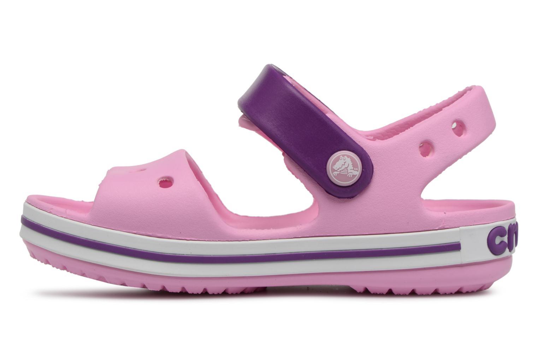 Sandali e scarpe aperte Crocs Crocband Sandal Kids Rosa immagine frontale