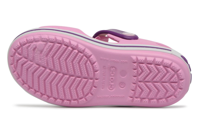 Sandali e scarpe aperte Crocs Crocband Sandal Kids Rosa immagine dall'alto