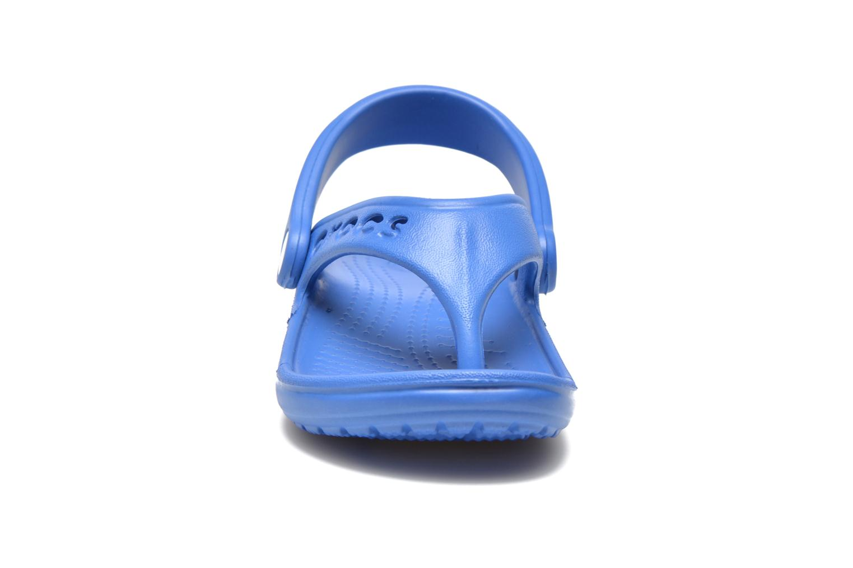 Tongs Crocs Baya Summer Flip Kids Bleu vue portées chaussures