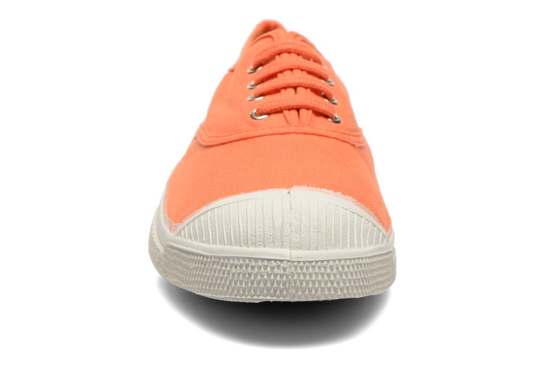 Baskets Bensimon Tennis Lacets Orange vue portées chaussures