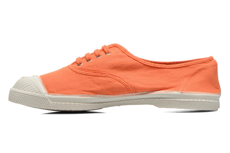 Baskets Bensimon Tennis Lacets Orange vue face