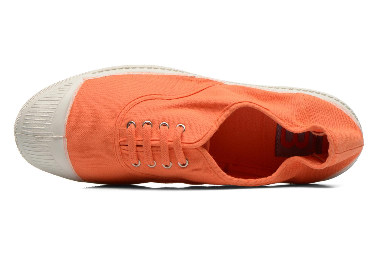 Baskets Bensimon Tennis Lacets Orange vue gauche