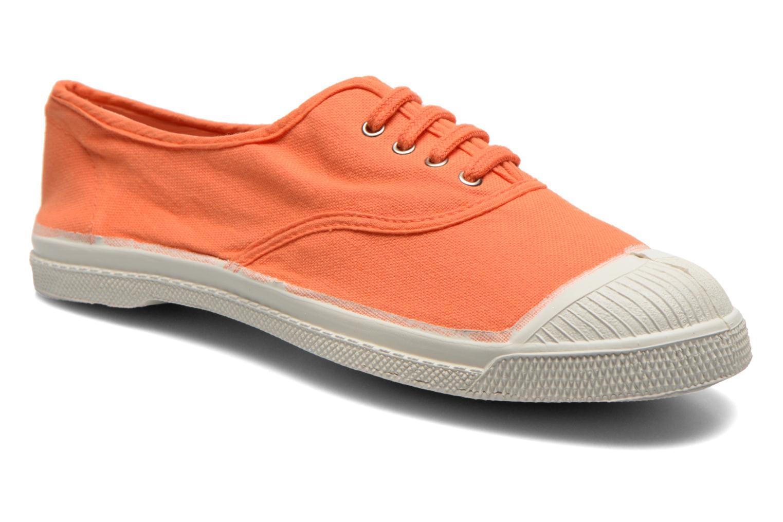 Baskets Bensimon Tennis Lacets Orange vue détail/paire