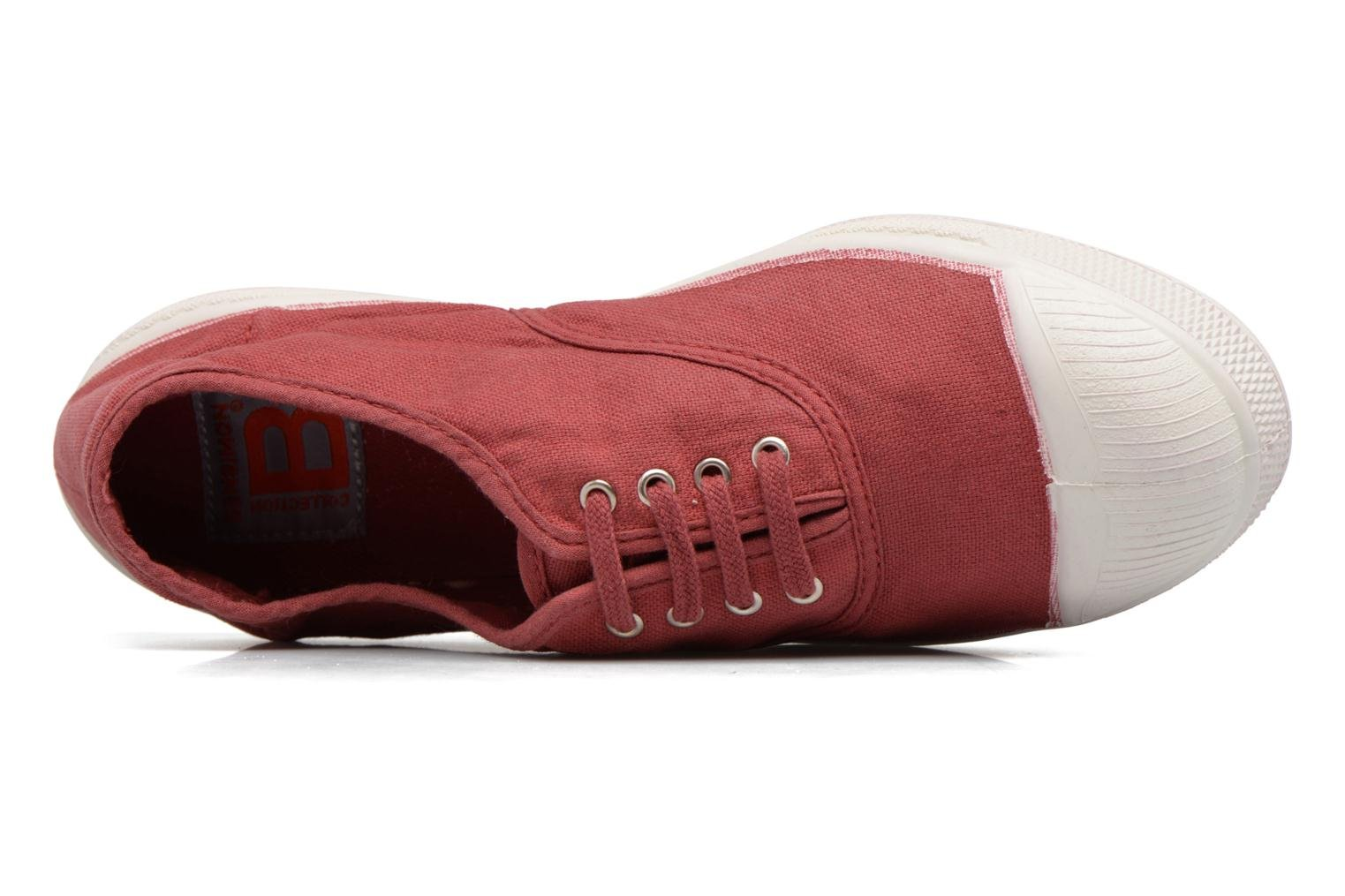 Trainers Bensimon Tennis Lacets Burgundy view from the left