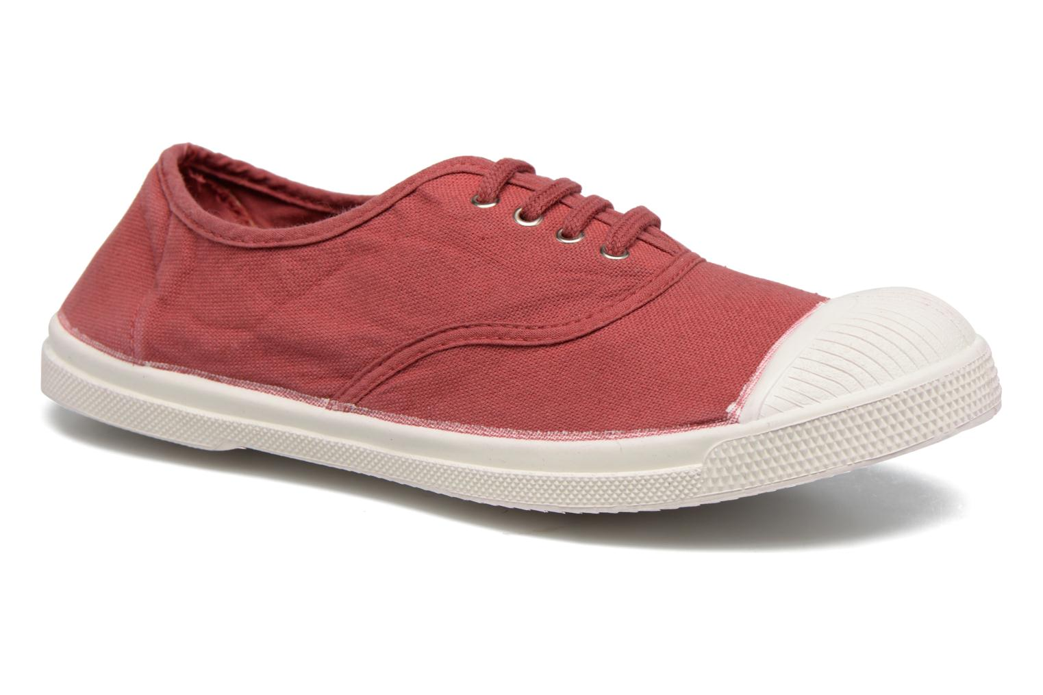 Trainers Bensimon Tennis Lacets Burgundy detailed view/ Pair view