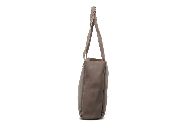 Handbags Petite mendigote QUEEN VICTORIA CABAS Grey model view