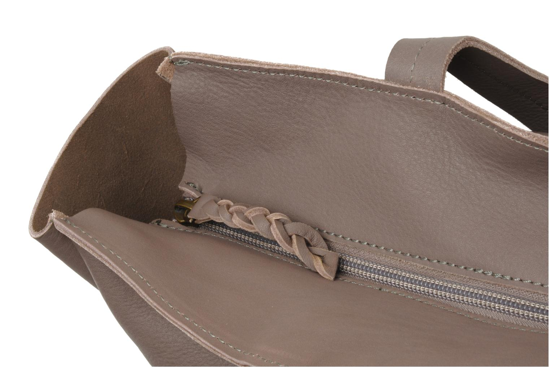 Handbags Petite mendigote QUEEN VICTORIA CABAS Grey view from the left
