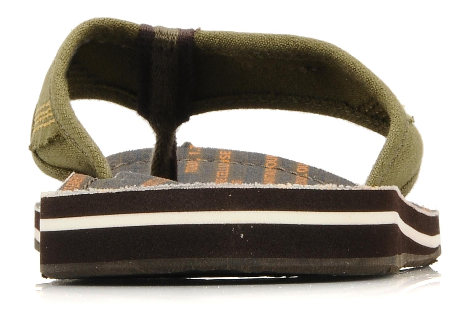 Flip flops Timberland Earthkeppers sandal Grqphic Flip Flop Green view from the right