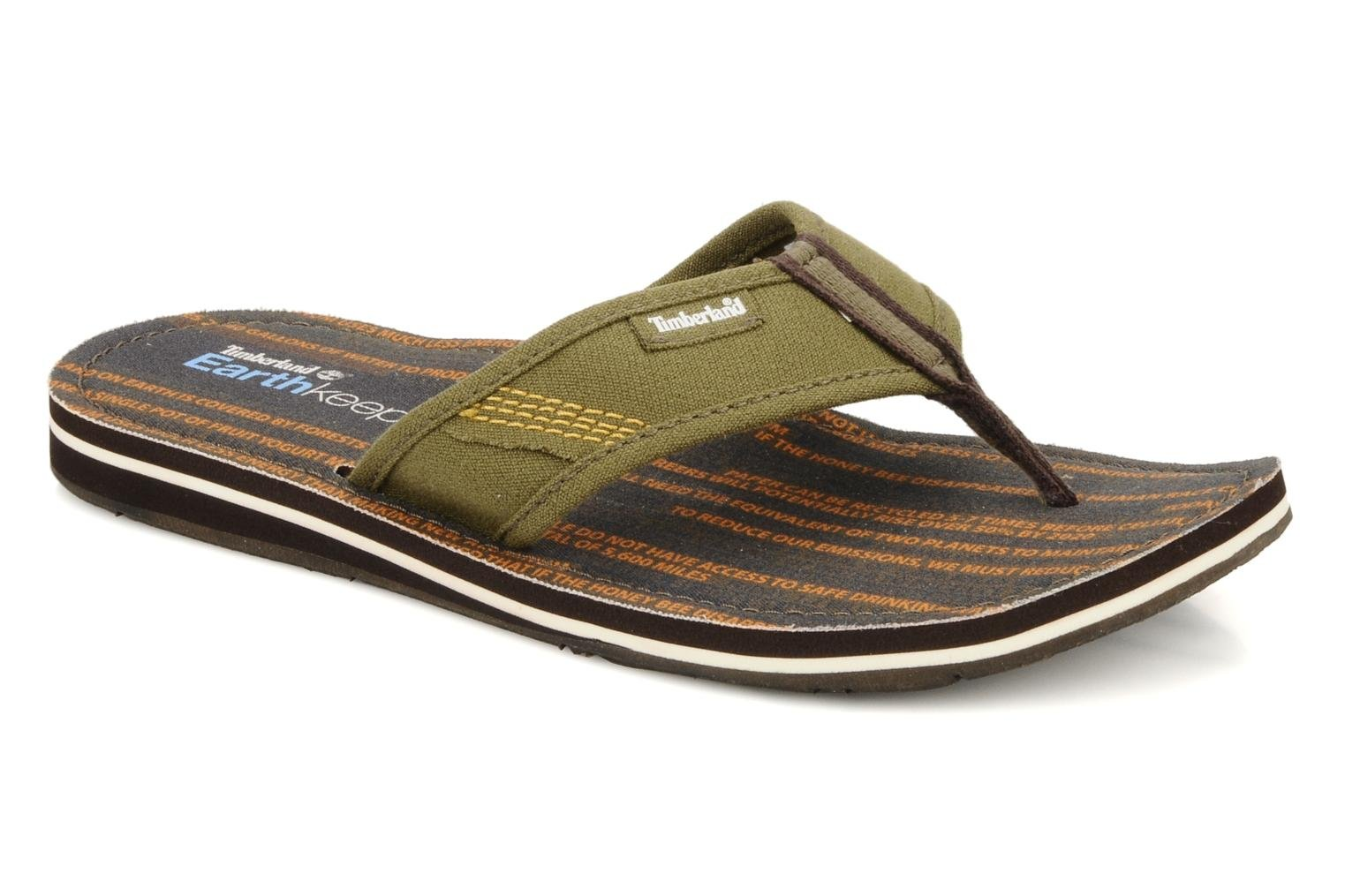 Flip flops Timberland Earthkeppers sandal Grqphic Flip Flop Green detailed view/ Pair view