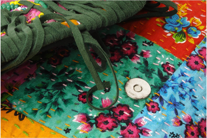 Clutch Antik Batik HIDA WALLET Groen links