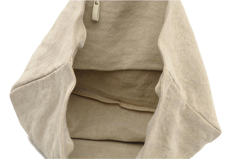 Handtaschen Vanessa Bruno Cabas Lin paillettes XL beige ansicht von hinten